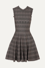 Alaïa Metallic jacquard-knit mini dress