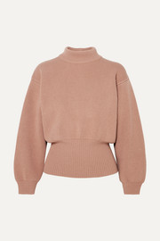 Alaïa Ribbed wool-blend turtleneck sweater