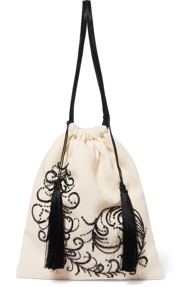 ATTICO Embroidered satin pouch