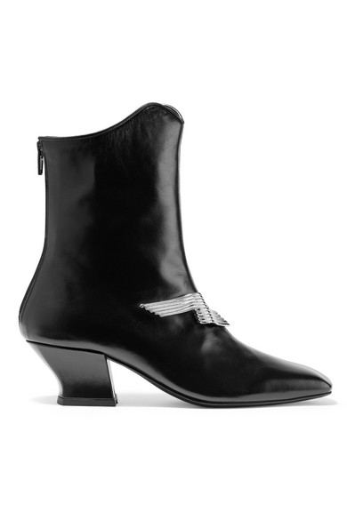 Dorateymur HAN EMBELLISHED LEATHER ANKLE BOOTS