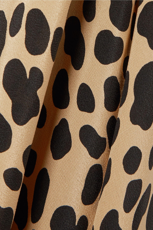 RIXO Katie leopard-print silk-crepe dress