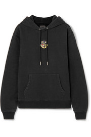 Kith Jane appliquéd cotton-jersey hoodie