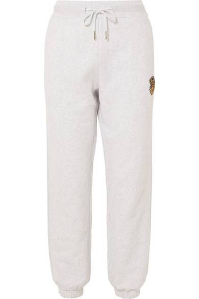 KITH Chelsea Appliquéd Cotton-Jersey Track Pants in Gray