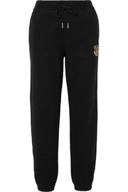 Chelsea appliquéd cotton-jersey track pants