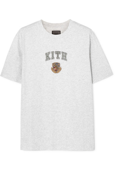 KITH Lucy Printed Cotton-Jersey T-Shirt in Gray