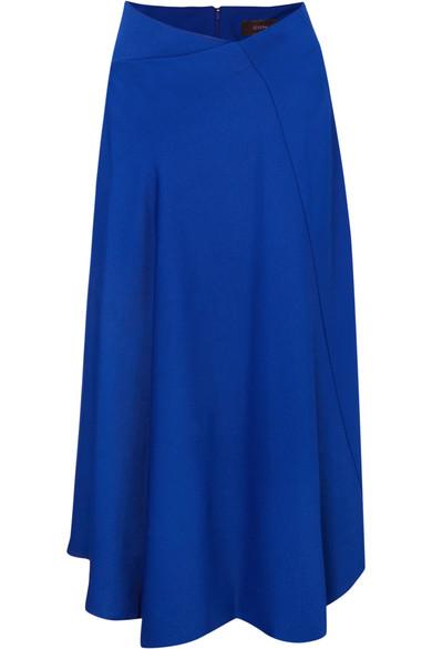 Joseph - Percy Asymmetric Cady Midi Skirt - Blue