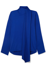 Joseph Cannon tie-neck cady blouse
