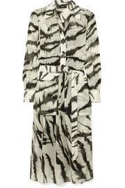 Seldon zebra-print silk dress