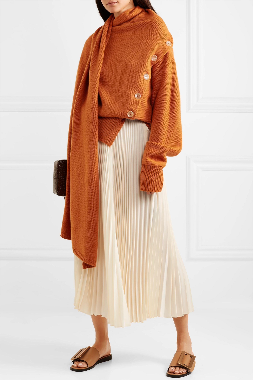 Joseph Draped wool and cashmere-blend sweater