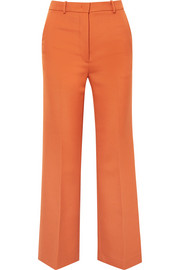 Grain de poudre wool-blend flared pants