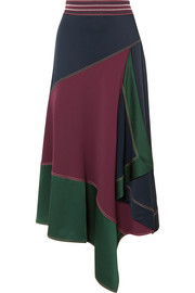 Peter Pilotto Asymmetric paneled cady midi skirt