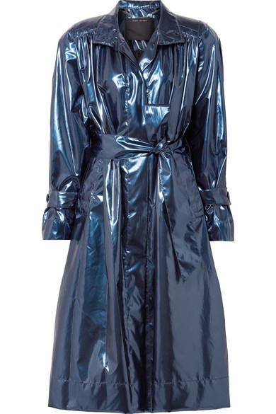 Marc Jacobs Coats Belted metallic vinyl trench coat