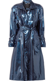 Marc Jacobs Belted metallic vinyl trench coat
