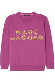 Embellished cotton-jersey sweatshirt