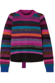 Marc Jacobs Tie-back striped cashmere sweater