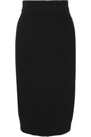 Marc Jacobs Ribbed wool and cashmere-blend midi skirt