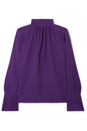 Marc Jacobs Silk-crepe turtleneck blouse