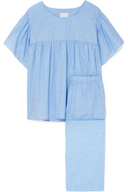 Kelly cotton-voile pajama set