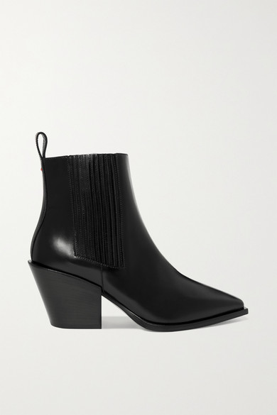 AEYDE Kate Leather Ankle Boots in Black
