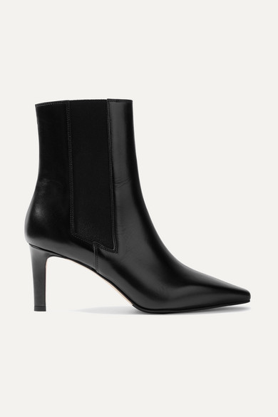 AEYDE Leila Leather Ankle Boots, Black
