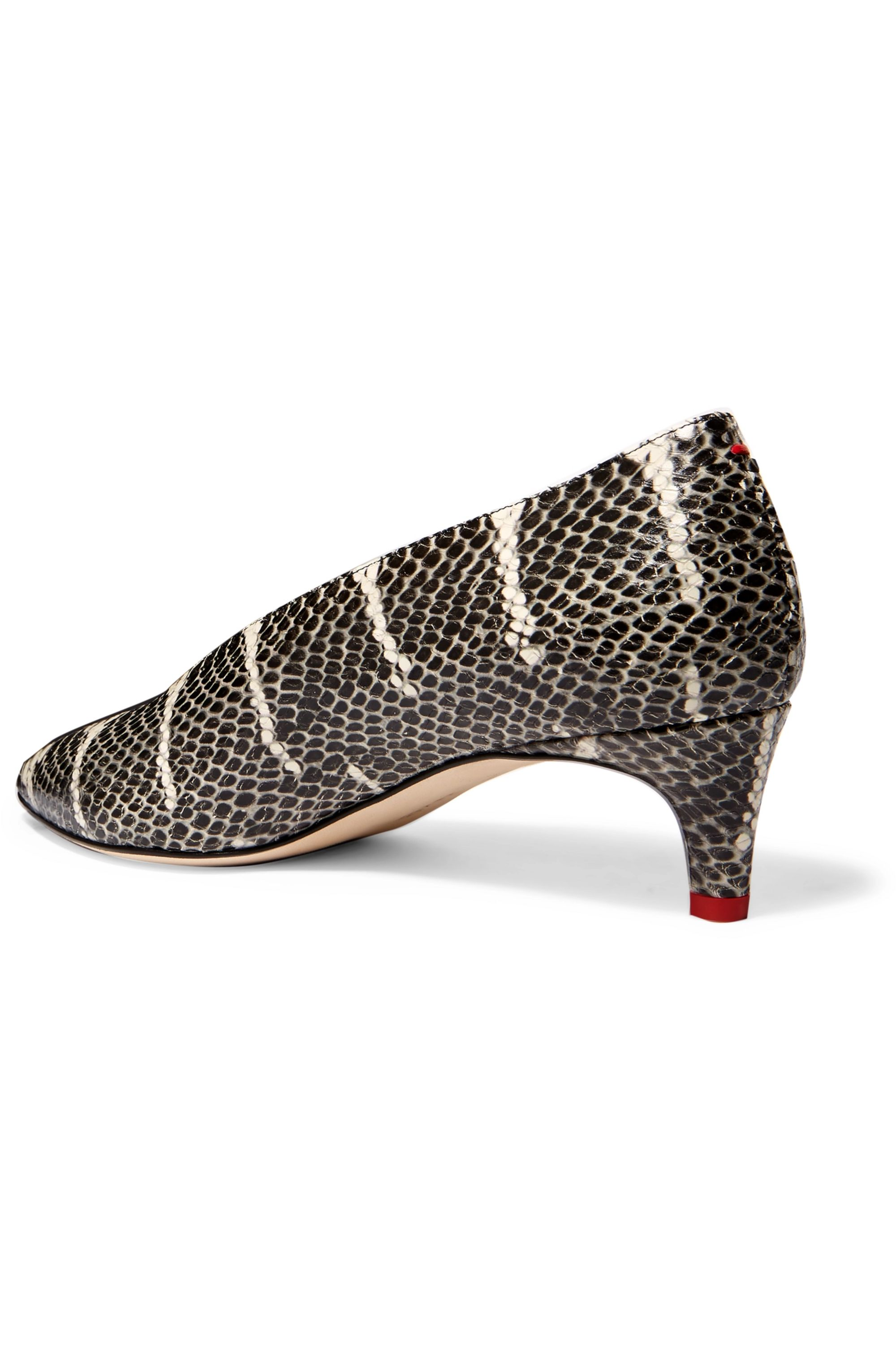 aeyde Camilla snake-effect leather pumps
