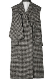 CALVIN KLEIN 205W39NYC Oversized houndstooth wool-blend vest