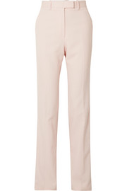 CALVIN KLEIN 205W39NYC Striped wool-twill straight-leg pants