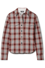 CALVIN KLEIN 205W39NYC Checked twill shirt