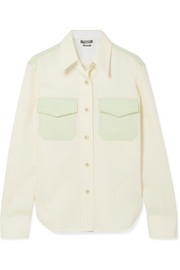 CALVIN KLEIN 205W39NYC Two-tone cotton-twill shirt