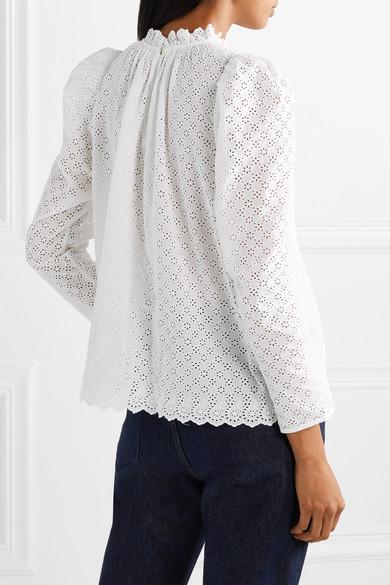 99e360b327f0d1 Ulla Johnson | Gracie broderie anglaise cotton blouse | NET-A-PORTER.COM