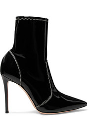 Gianvito Rossi 105 patent-leather ankle boots
