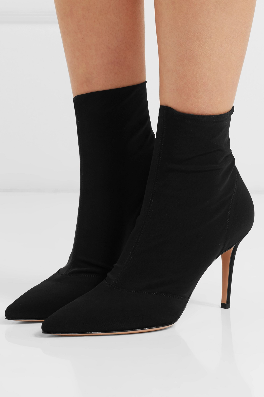 Black 85 stretch-shell sock boots