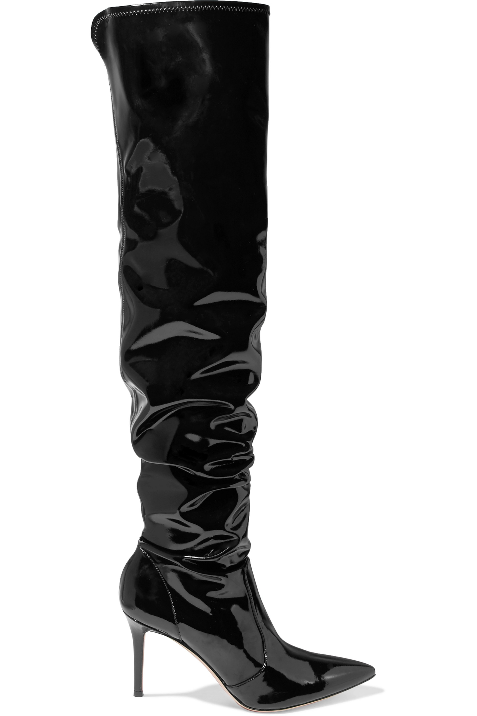 Gianvito Rossi 85 vinyl over-the-knee boots