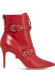 Gianvito Rossi 85 buckle-detailed leather ankle boots