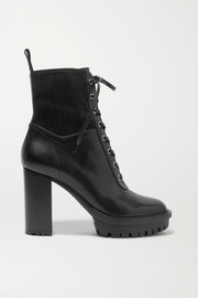 Gianvito Rossi 90 lace-up leather ankle boots