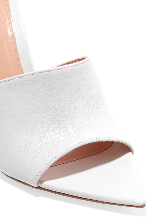 Gianvito Rossi 100 leather mules