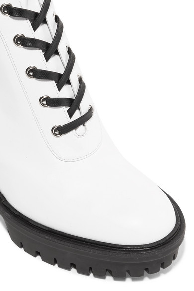 Gianvito Rossi | Leder 90 Ankle Boots aus Leder | mit Schnürung 30c4c5