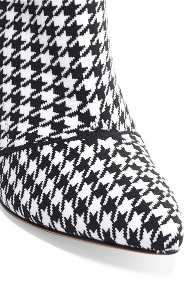 Gianvito Rossi | Stretch-Strick 85 Sock Boots aus Stretch-Strick | mit Hahnentrittmuster f9f84b