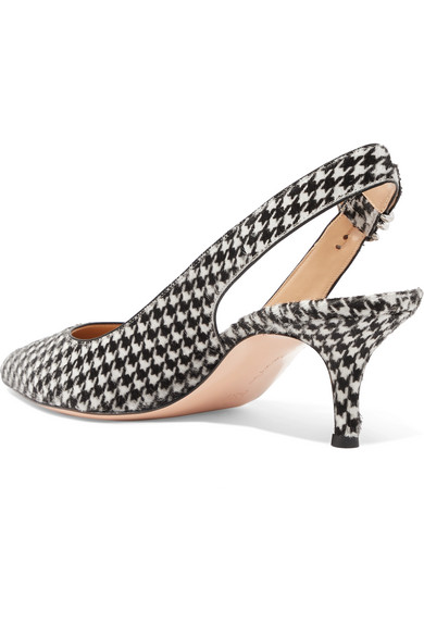 Gianvito Rossi | 65 Hahnentrittmuster Slingback-Pumps aus Kalbshaar mit Hahnentrittmuster 65 2c8b2a