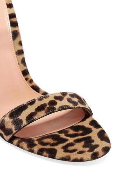 Gianvito Rossi | Portofino 100 Leopardenprint Sandalen aus Kalbshaar mit Leopardenprint 100 5a97fe