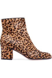 Gianvito Rossi Margaux 65 leopard-print calf hair ankle boots