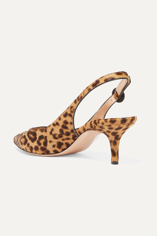 Gianvito Rossi Anna 55 leopard-print calf hair slingback pumps