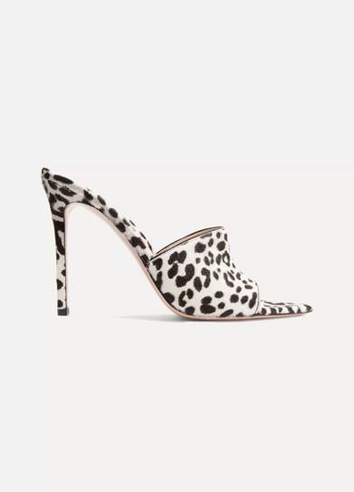 Gianvito Rossi - 105 Leopard-print Calf Hair Mules - Leopard print