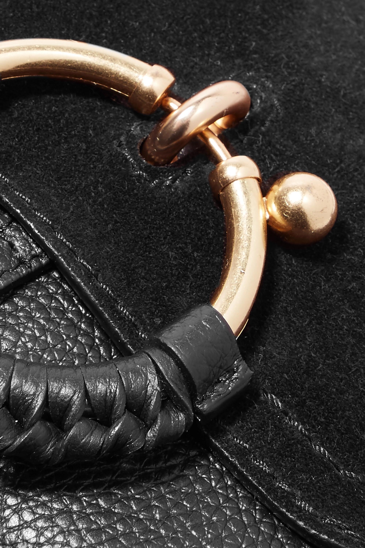 See By Chloé Sac porté épaule en cuir texturé et en daim Joan Mini