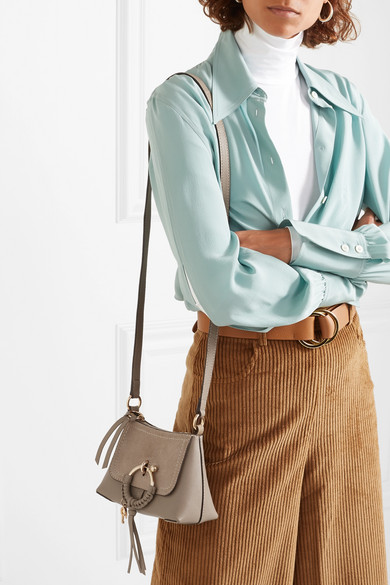See By Chloé. Joan mini suede-paneled textured-leather shoulder bag 7453dda582aa4