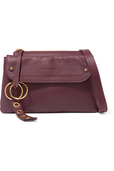440593fa8c See By ChloÉ Phill Textured-Leather Shoulder Bag In Burgundy ...