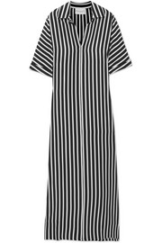 Striped silk crepe de chine kaftan