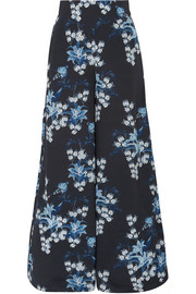 Dream State floral-print silk crepe de chine wide-leg pants