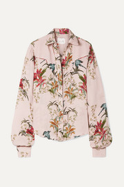 Azalea printed silk-georgette shirt