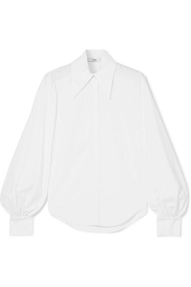 Erdem - Eula Cotton-poplin Shirt - White